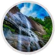 Chimney Rock Round Beach Towel