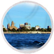 Waterfront Decay Four Round Beach Towel
