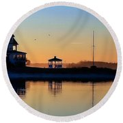 Waterfront Living Round Beach Towel