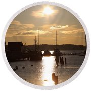 Waterfront, Oslo Fjords, Norway.  Round Beach Towel
