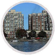 Waterfront Property Round Beach Towel