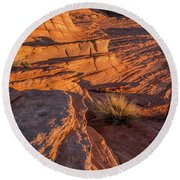 Waterhole Canyon Sunset Vista Round Beach Towel