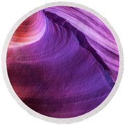 Waterhole Canyon Wave Round Beach Towel