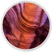 Waterholes Canyon Ribbon Candy Round Beach Towel