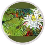 Waterlilies 12 Round Beach Towel