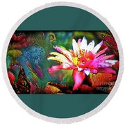 Waterlilies 14 Round Beach Towel