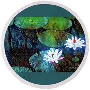 Waterlilies 19 Round Beach Towel