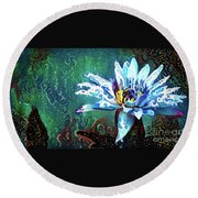 Waterlilies 20 Round Beach Towel