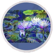 Waterlilies 6 Round Beach Towel