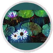 Waterlillies 15 Round Beach Towel