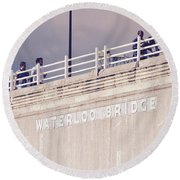 Waterloo Bridge Round Beach Towel