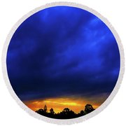 Round Beach Towel featuring the photograph Waterloo Sunset by Mark Blauhoefer