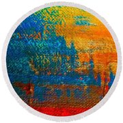 Waterloo Sunset Round Beach Towel