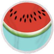 Watermelon Slice Round Beach Towel