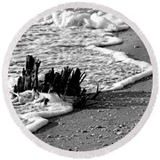 Water's Edge Round Beach Towel