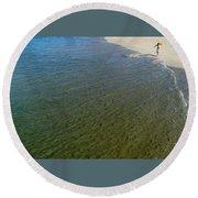 Water's Edge Round Beach Towel