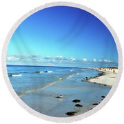 Round Beach Towel featuring the photograph Water's Edge by Gary Wonning