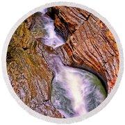 Watkins Glen - Rainbow Falls 005 Round Beach Towel