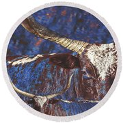 Watusi Blues Round Beach Towel