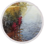 Watts Bar Lake Rockwood Tn Round Beach Towel