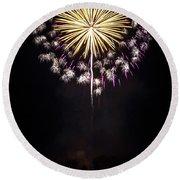 Waukesha Fireworks 03 Round Beach Towel