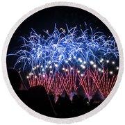 Waukesha Fireworks 04 Round Beach Towel