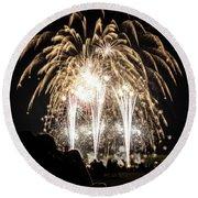 Waukesha Fireworks 06 Round Beach Towel