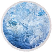 Wave With Hole Round Beach Towel