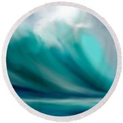 Wave  Round Beach Towel by Anthony Fishburne