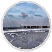 Wave Breakers Round Beach Towel