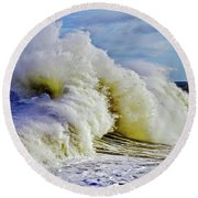 Moody Surf Round Beach Towel by Michael Cinnamond
