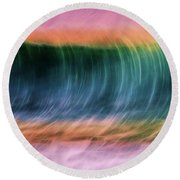 Wave In Motion Round Beach Towel