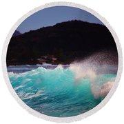 Wave Of Fantasy Round Beach Towel by Craig Wood