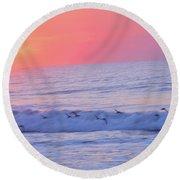 Wave Of Gratitude Nature Art Round Beach Towel