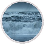 Wave Pano Round Beach Towel