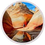 Wave Reflection Round Beach Towel