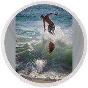 Wave Skimmer Round Beach Towel