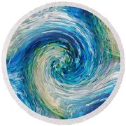 Wave To Van Gogh II Round Beach Towel