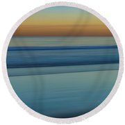 Wave Tracks 3 Round Beach Towel