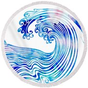 Waveland Round Beach Towel
