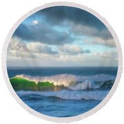 Round Beach Towel featuring the photograph Wave Length by Darren White