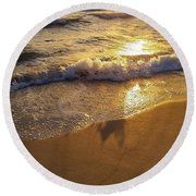 Waves After Storm Round Beach Towel