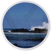 Waves Crashing Round Beach Towel