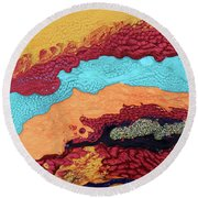 Waves Of Debbie Round Beach Towel