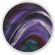 Waves Of Grace Round Beach Towel