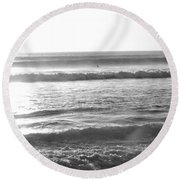 Waves Of Life Round Beach Towel