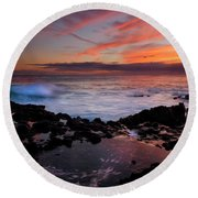Waves Of Paradise Round Beach Towel