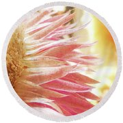 Round Beach Towel featuring the digital art Waves Of Petals by Steve Taylor