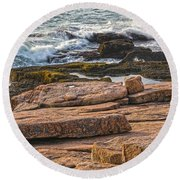 Waves Of Stone Round Beach Towel