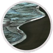 Waves Of The Future Round Beach Towel